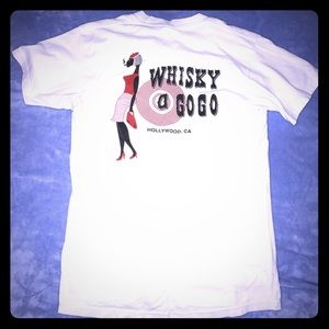 Whisky a GoGo, Hollywood Ca, White T Shirt, Small
